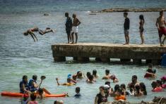 Al igual que sucedió en Mayabeque, las playas en