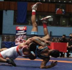Alejandreo Valdés se ha convertido en nuestro gladiador del estilo libre más estable durante el ciclo que culminartá en Tokio. Foto: Calixto N. Llanes