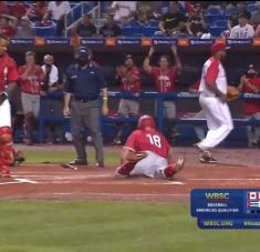 Para Cuba remontar nuevamente score de tres carreras desde el inicio se antojó demasiado.