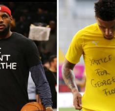 La NBA siempre ha sido una organización deportiva progresista y enérgica en el enfrentamiento al racismo. Lebron James (izq.), portavoz de muchos. Foto: Tomada de AS.