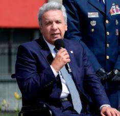 El presidente ecuatoriano ofrecerá este domingo su informe anual de labores, que será de manera virtual por la pandemia de coronavirus. Foto: EFE