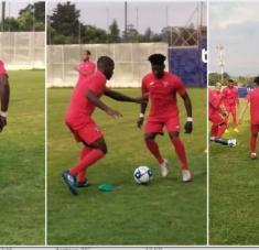 Mucha motivación y química evidenciaron los jugadortes cubanos en las sesiones de entrenamiento. Foto: tomada de Prensa Libre.