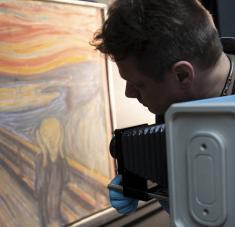 El grito de Edvard Munch en la Galería Nacional de Noruega. Foto:ANNAR BJOERGLI / THE NATIONAL MUSEUM OF NORWAY / AFP