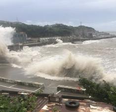 El servicio meteorológico de Japón estima que Haishen podría convertirse en uno de los peores tifones en afectar al archipiélago en décadas. Foto: Xinhua