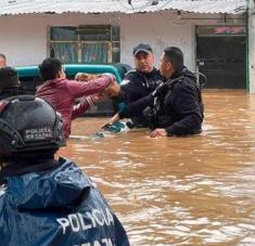 El huracán Grace también generó inundaciones en decenas de municipios mexicanos. Foto: EFE/Secretaría de Seguridad Pública de Veracruz