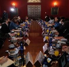 Representantes del organismo internacional se reunió con delegados del Gobierno colombiano en Bogotá. Foto: @CIDH