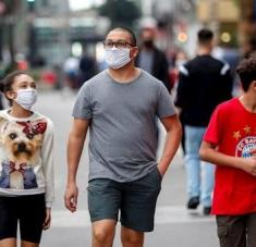 El 9.5% de la población paulista podría estar contagiada con la Covid-19. Foto: EFE