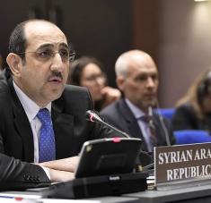 El embajador sirio condenó los asesinatos, arrestos y confiscación de bienes ilegales por parte de Israel en el Golán. Foto: Al Mayadeen