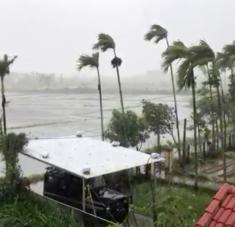 Se trata de la tormenta tropical más fuerte registrada en lo que va de año, con vientos sostenidos de 225 kilómetros por hora. Foto: Reuters.