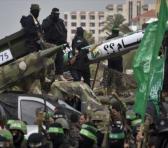 Misiles presentados por el Movimiento de Resistencia Islámica Palestina (HAMAS) en un desfile militar en Gaza.